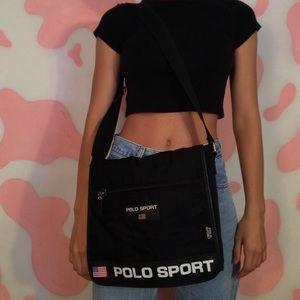 Unisex Vintage polo sport messenger bag
